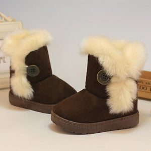 Girls' Winter Boots cotton-Padded Suede Snow EU 21-35 - Gkandaa.net