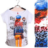 Top Selling Womens Clothes Fashion Vintage Spring Summer Short Sleeve Animal Printed Girls Cotton Female Women T-shirt - GKandAa - 10