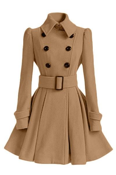Women Trench high quality Double-breasted coat Sleeve-GKandaa.net