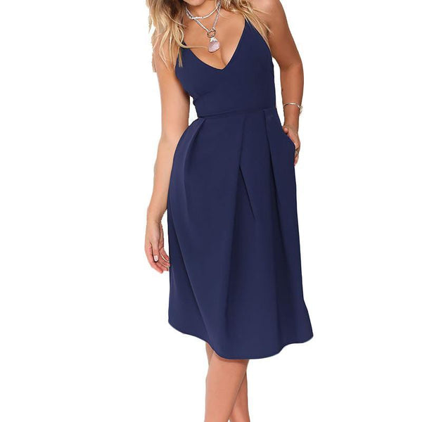 Women's Dresses Midi Sleeveless-GKandaa.net