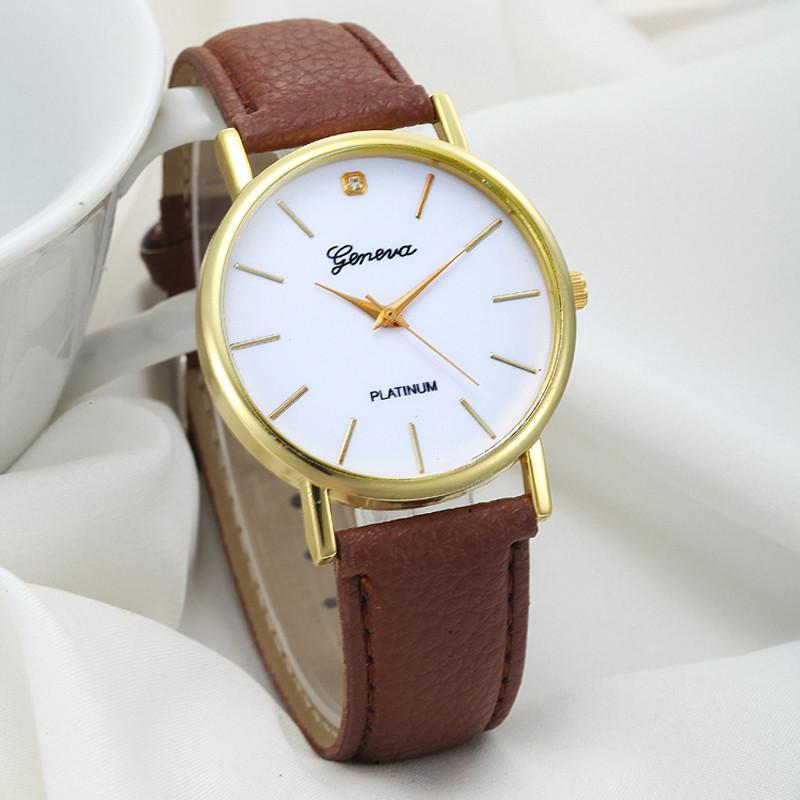 Women Wrist Watch Attractive Dial Leather-GKandaa.net