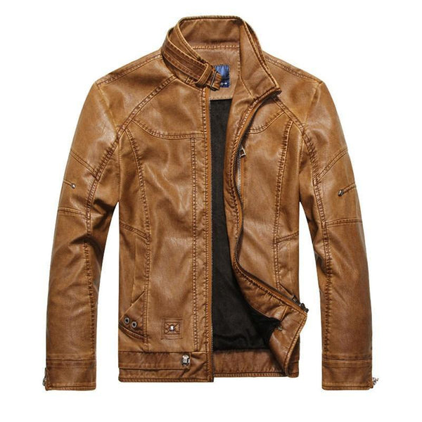 Men's PU Leather Jackets Zipper Spring / Autumn-GKandaa.net