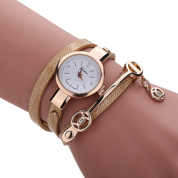 Women Wrist Watch PU Leather Bracelet-GKandaa.net