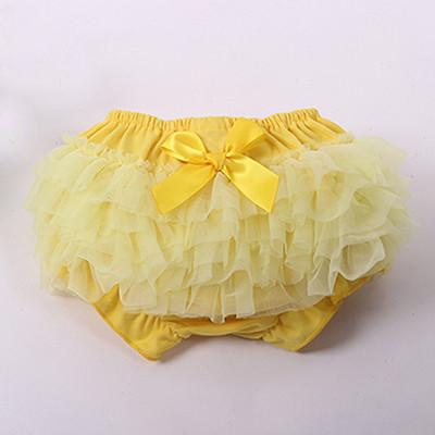 Baby Shorts Retail Bloomers Diaper Cover Toddler Ruffled With Bow-GKandaa.net