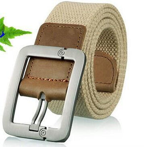 Men's dress Belts canvas military style striped belt-GKandaa.net