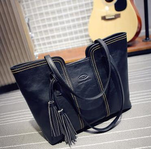 Shoulder Bags With Tassel Famous Leather Large Capacity Tote L4-2111-GKandaa.net