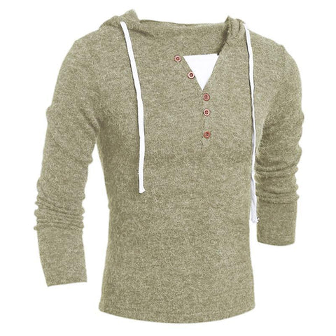 Men's Sweaters, Casual Sleeve v-neck knitwear Fit Solid Jumpers Coat - GKandaa.net