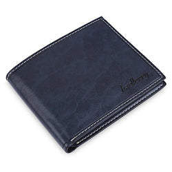 baellerry Famous Brand Vintage Simple Men PU Leather Wallet Card Holder Multi Pockets Credit Card Photo Purse For Male Wallets - GKandAa - 1