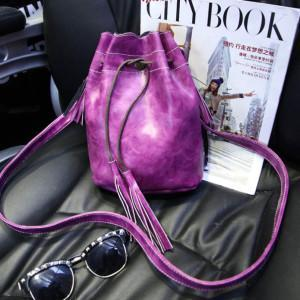 Bucket bag Quality Ladies Party Famous Shoulder Tassel-GKandaa.net