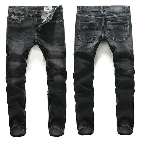 Men's Jeans Vintage good quality High Elasticity Straight pants Ripped-GKandaa.net