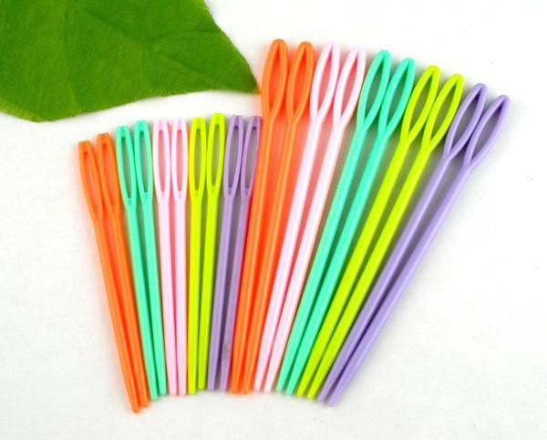 Art Supplies 20PCs Mixed Multicolor Plastic knitting Needles Toolanzellina.myshopify.com
