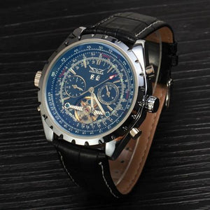 Men's Watch  Automatic  Mechanical  Self-Wind  Leather Strap-GKandaa.net