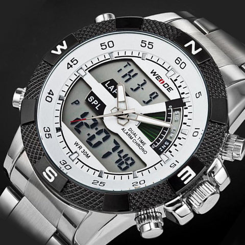 Men's Watches Luxury Army Military Quartz Hour LED Digital clock-GKandaa.net