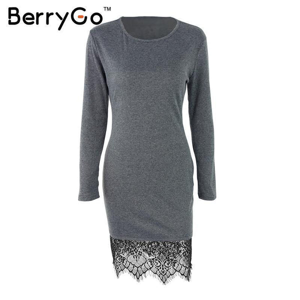 Women's Dresses evening party long Sleeve lace casual-GKandaa.net