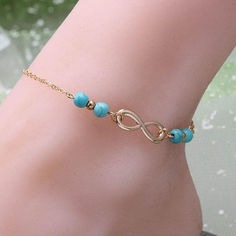 Anklets for Women bracelet foot jewelry heart For Ankleanzellina.myshopify.com