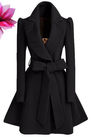 Women Trench coat Turn-down Collar-GKandaa.net