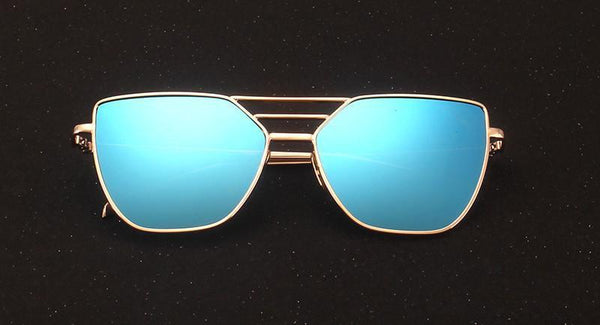 Women's Sunglasses Luxury Cat Eye Alloy Frame 7 Colour-GKandaa.net