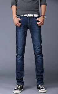 Men's Jeans Pocket Male Casual Straight Slim Fit overall Bier-GKandaa.net