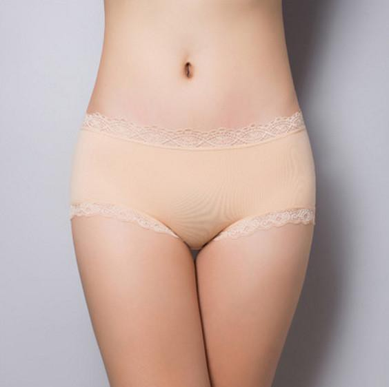 Women's Panties cotton lace classic Briefs-GKandaa.net