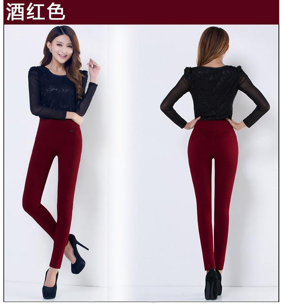 Women Pants slim Elastic High-GKandaa.net