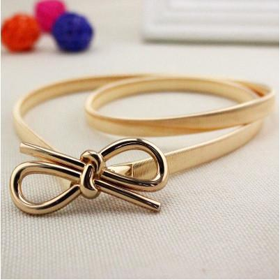 Women Belt 16 metal belly elastic fashion gold-GKandaa.net