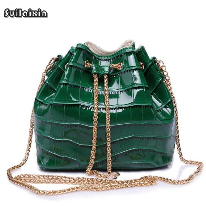 Bucket bag Crocodile Leather mini Ladies Luxury-GKandaa.net