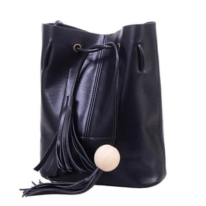 Bucket bag PU Leather Shoulder-GKandaa.net