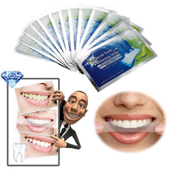 New packing 14Pairs/Box Oral Hygiene Teeth Whitening Strips Professional Double Dental White Teeth Strips Gel Bleaching Tooth - GKandAa