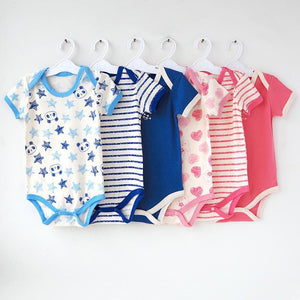 Baby Bodysuits 5pieces/ short-Sleeved jumps-GKandaa.net