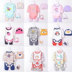 Kids, baby, Brand New Baby Boys Clothes Suits 4 pieces Set Zoo Baby Bodysuits Long Pants 100% Cotton Comfortable - GKandAa - 1