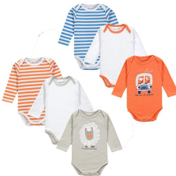 Kids, baby, Wholesale 6PCS/LOT Cute Style Baby Boy Girl Winter Clothes Newborn Long Sleeve Body Baby Next Baby Bodysuit - GKandAa - 1