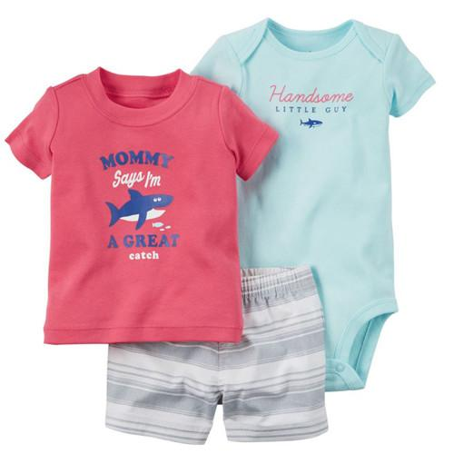 Baby Clothing Sets Bodysuits 3-Piece-GKandaa.net