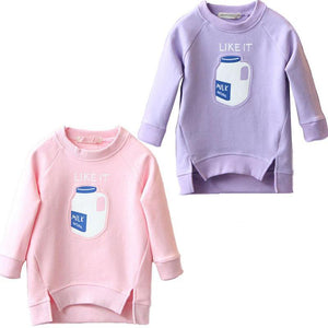 Baby Sweatshirts Trendy Toddler Bottle Print 2-7 Y-GKandaa.net