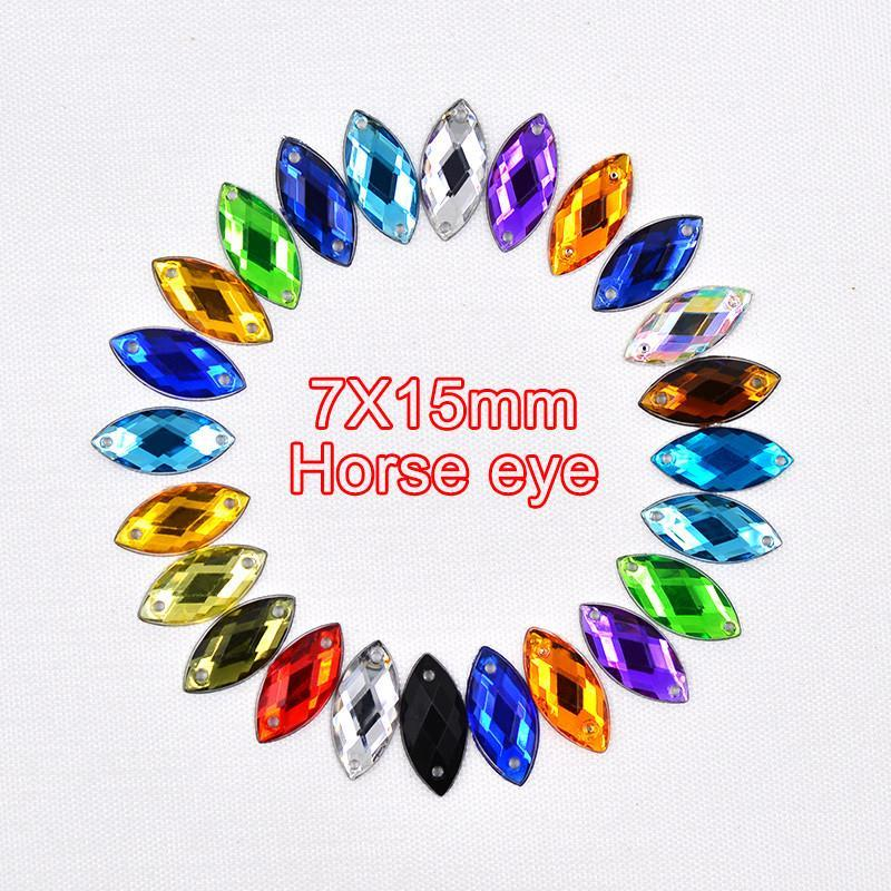 Art Supplies 7*15mm Acrylic Crystal stonesanzellina.myshopify.com
