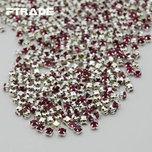 Art Supplies Super Crystal 288Pcs Rose Color Glass Rhinestones-GKandaa.net