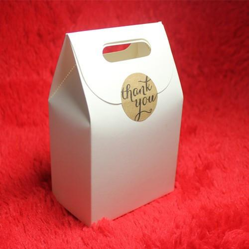 Hot-selling 50pcs/lot White Kraft Paper Bags Pouches Bag For Gift Cookies Packing Bag Wedding Favors Candy Packaging Bags - GKandAa - 1
