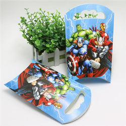 10pcs/lot Party supplies birthday party Avengers alliance French fries box theme party decoration paper gift bag candy bag - GKandAa