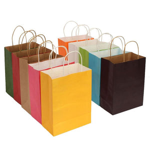 Paper bags for gifts 21*27*11cm Colorful Party Craft With Strap-GKandaa.net