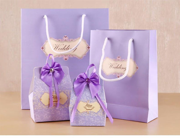 Paper bags for gifts 10PCS 2 Colors wedding favors - GKandaa.net