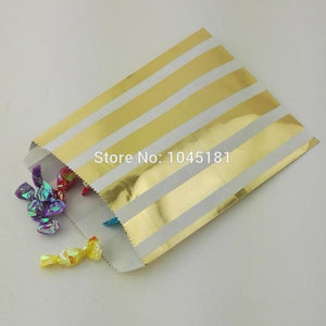 Paper bags for gifts 125pcs Sl Party 5*7ich Metallic Gold Party-GKandaa.net