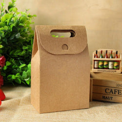 (10 pieces/lot) Large Kraft Paper Gift Bag for Snack Candy Biscuit Cake Cookie Handmade Bakery Packaging Bag Gift Box Candy Box - GKandAa