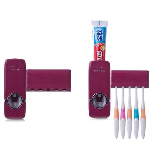 Bathroom Accessories Automatic Toothpaste Dispenser Toothbrush-GKandaa.net