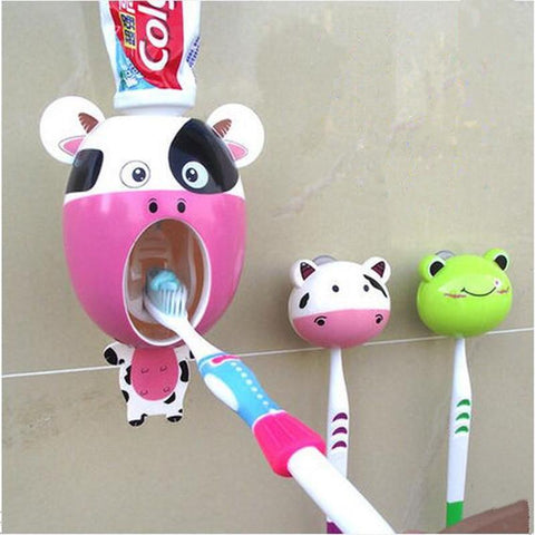 Bathroom Accessories Automatic Toothpaste Toothbrush holder suits-GKandaa.net