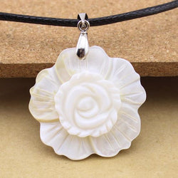 1pc DIY Natural Freshwater 3-Layer Small White Flower Shell Necklace Pendants For Jewelry Making Charms Pendants F1165 - GKandAa
