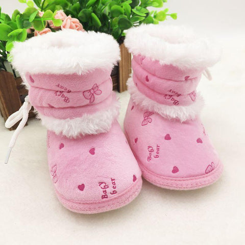 Baby Shoes 0-18M Boot Soft Sole Fleece Snow Boots-GKandaa.net