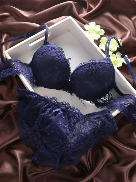 Bra Brief Sets Dp V-neck lace fashion exquisite luxury up-GKandaa.net