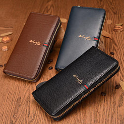 New arrival Brand men wallets quality top zipper purse fashion Clutches wallet phone bag purses card pocket holder - GKandAa - 1