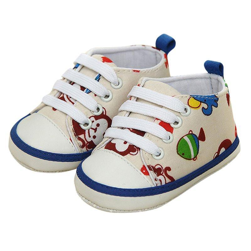 Baby Shoes 0-18M Boy Girl Laces Shoes Soft Sole Toddler-GKandaa.net