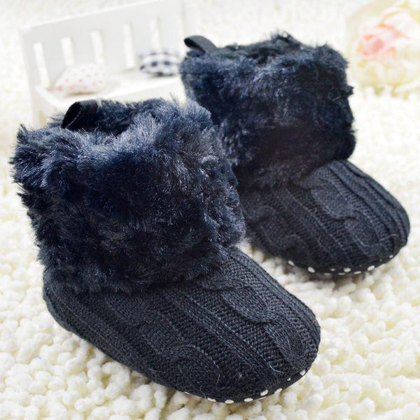 Baby Shoes Toddler Girl Fur Winter Plush Boots 7 Colors-GKandaa.net