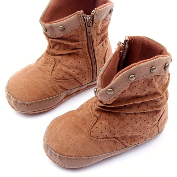Baby Shoes Winter Boots Boy Rivets High-GKandaa.net